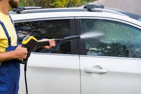clean your car with pressure washer