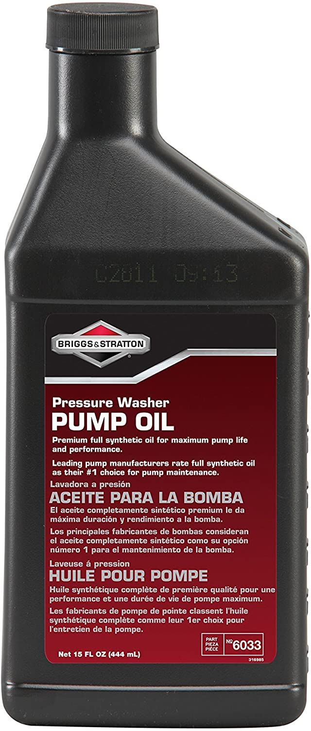 Briggs & Stratton Synthetic Oil for Pressure Washer Pump 15-Ounce