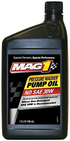 Mag 1 60694-6PK Pressure Washer Pump Oil – 1 Quart Pack of 6