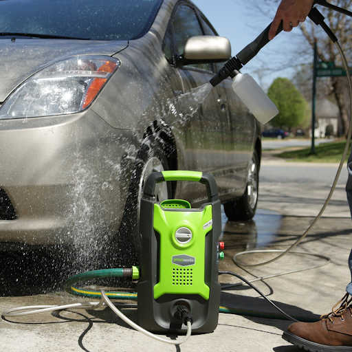 greenworks pressure washer for car washing