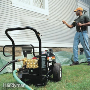 fence and grills washing using pressure washers